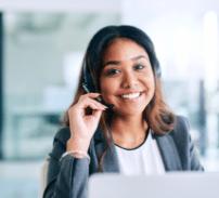 Woman customer service representative for ev charger installation